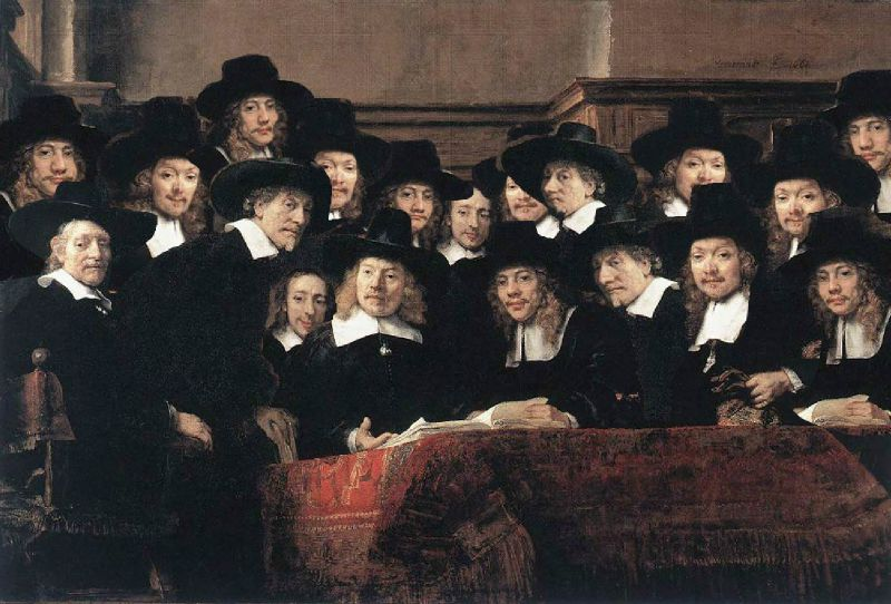 Rembrandt: De Staalmeesters (Syndics of the Drapers' Guild) - (credits: https://en.wikipedia.org/wiki/Syndics_of_the_Drapers%27_Guild)